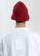 Red Embroidered Metal Logo Narrow Bucket Hat thumbnail 4