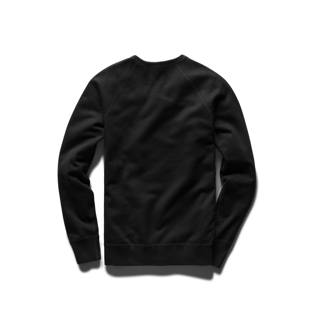 Black Mid Weight Terry Gym Logo Crewneck