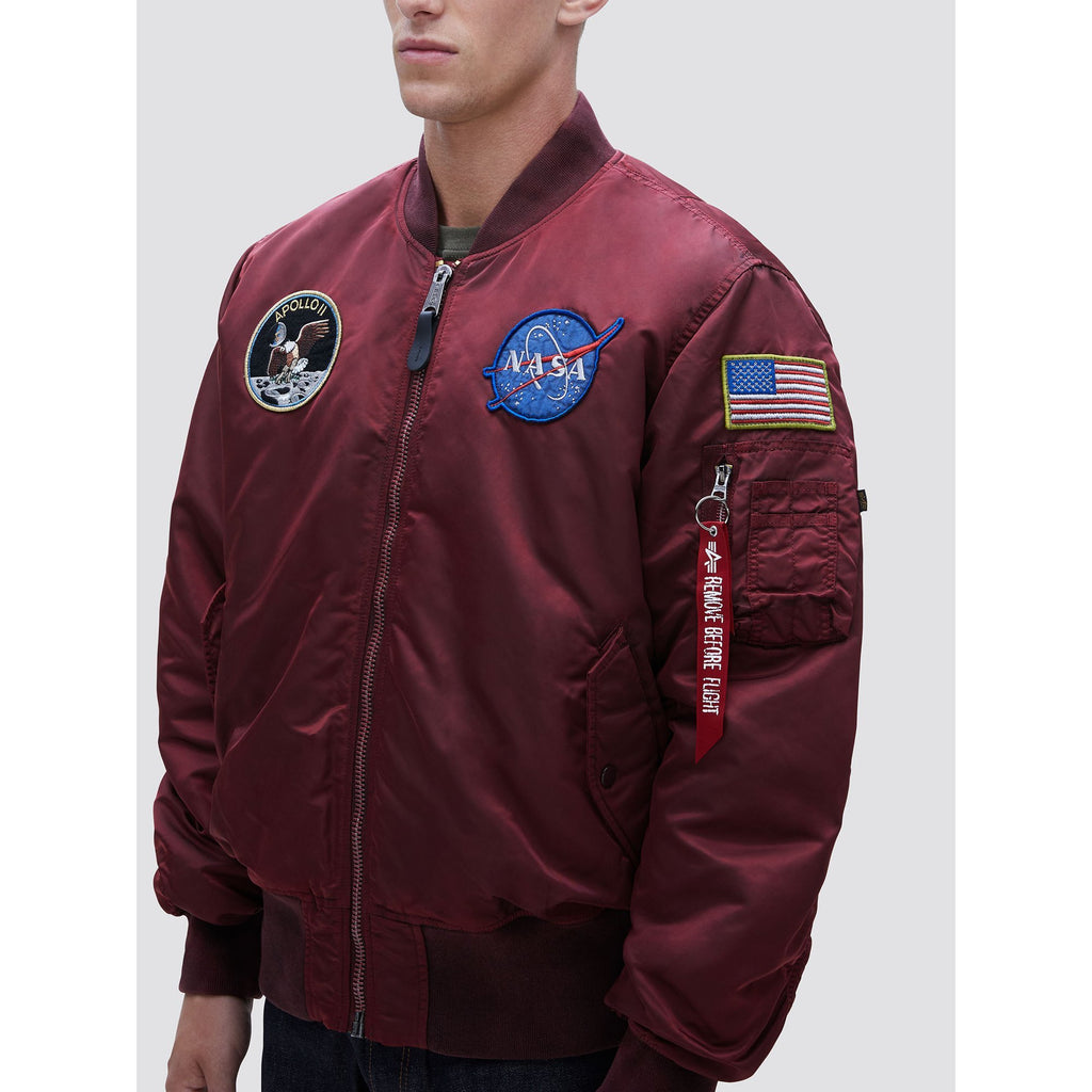 Red & Khaki MA-1 Apollo Battlewash Flight Jacket