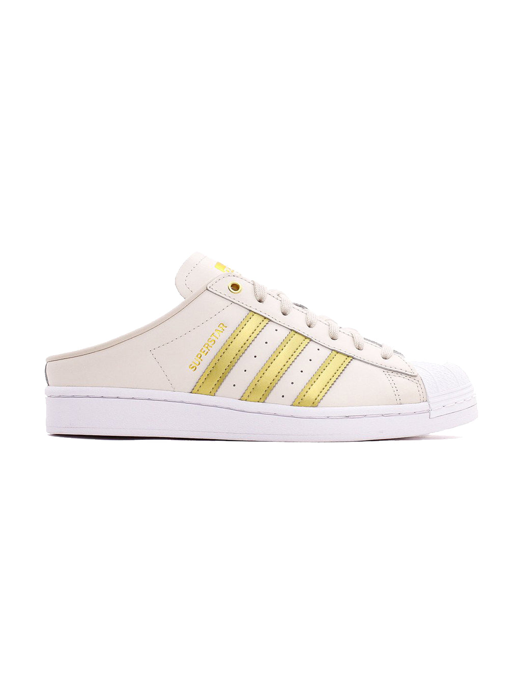 Mule White Gold Superstar Sneakers