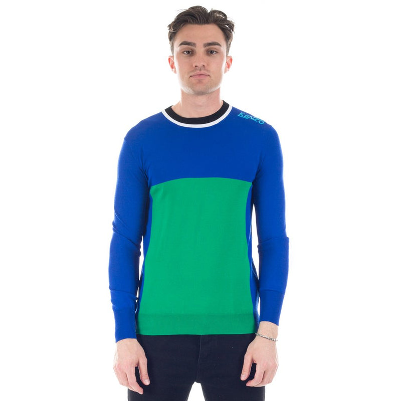 Blue & Green Square Knit Sweater