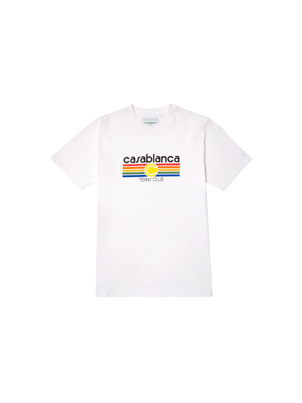 White Tennis Strip Casa Graphic Printed T-Shirt