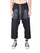 Black Cargo Drawstring Cropped Pants thumbnail 1
