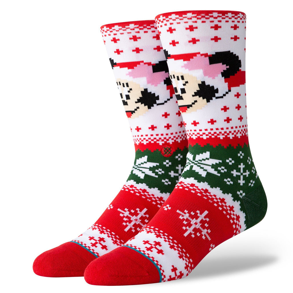 Multi Disney Minnie Mouse Claus Socks