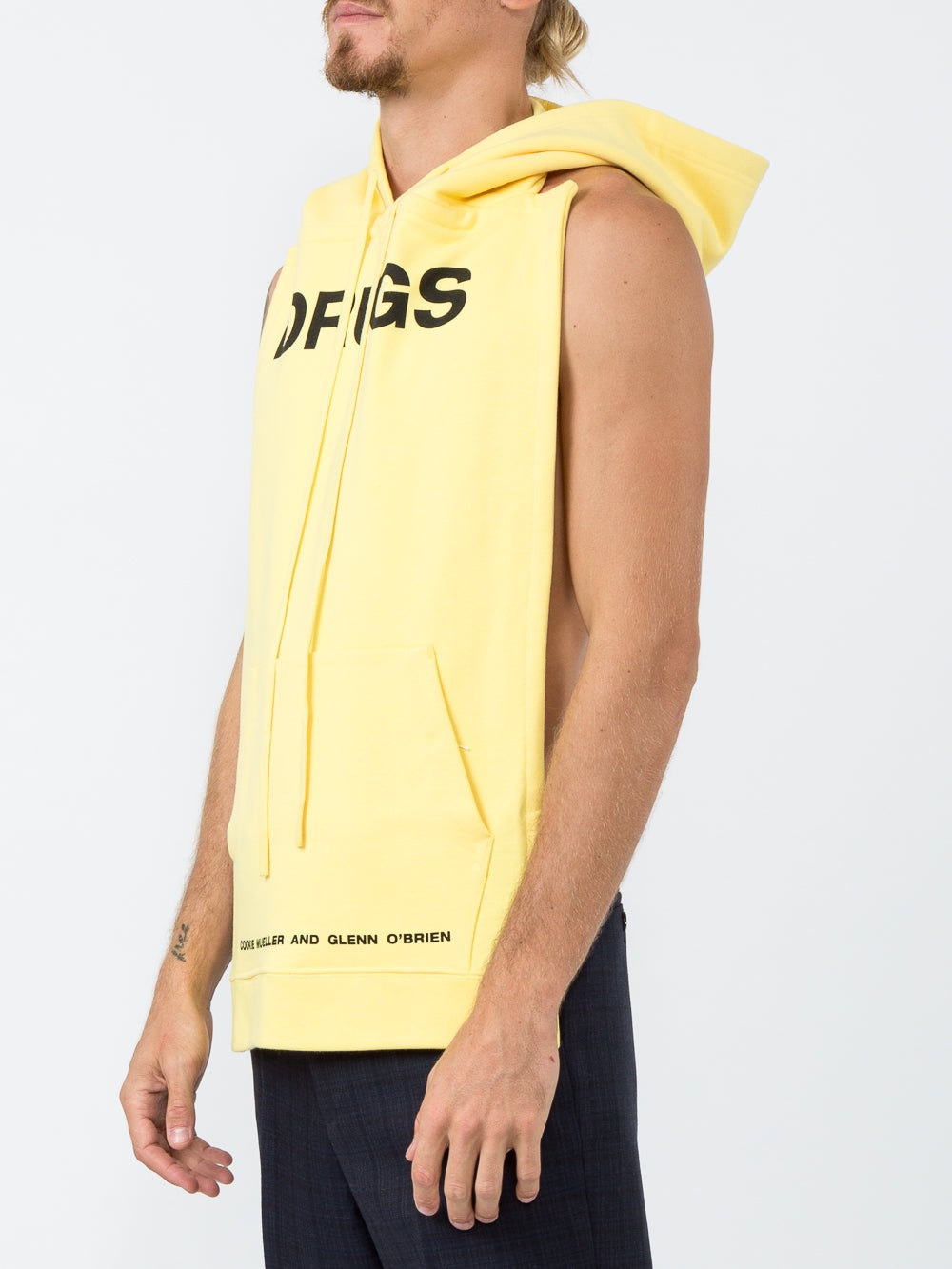 Yellow Drugs Pannel Hoodie