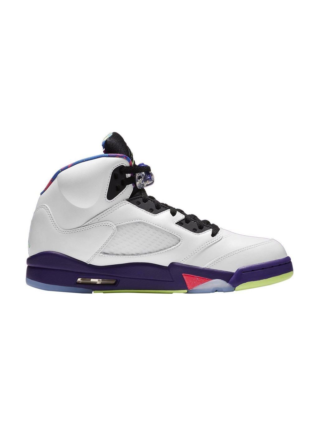 White Jordan 5 Retro Alternate Bel-air Shoes