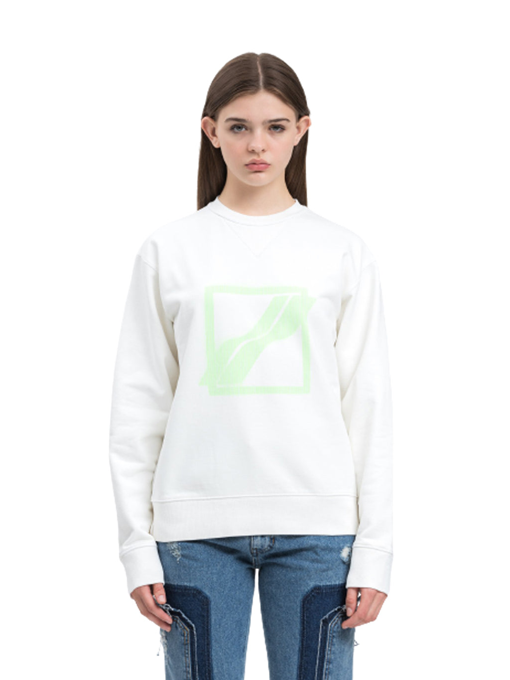 Ivory Slim Logo Sweater