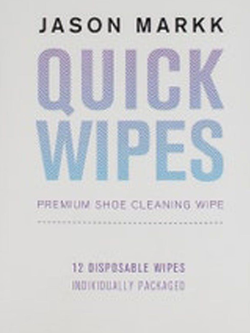White & Blue Quick Shoe Cleaning Wipes