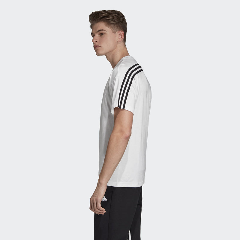 White Athletic Must Haves 3 Stripe T-Shirt