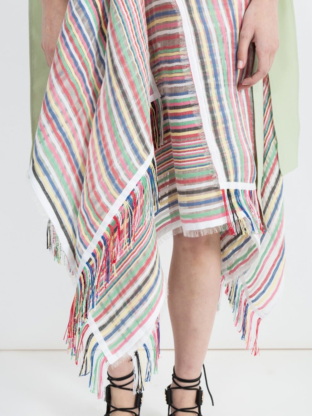 Multi Striped Scarf Skirt