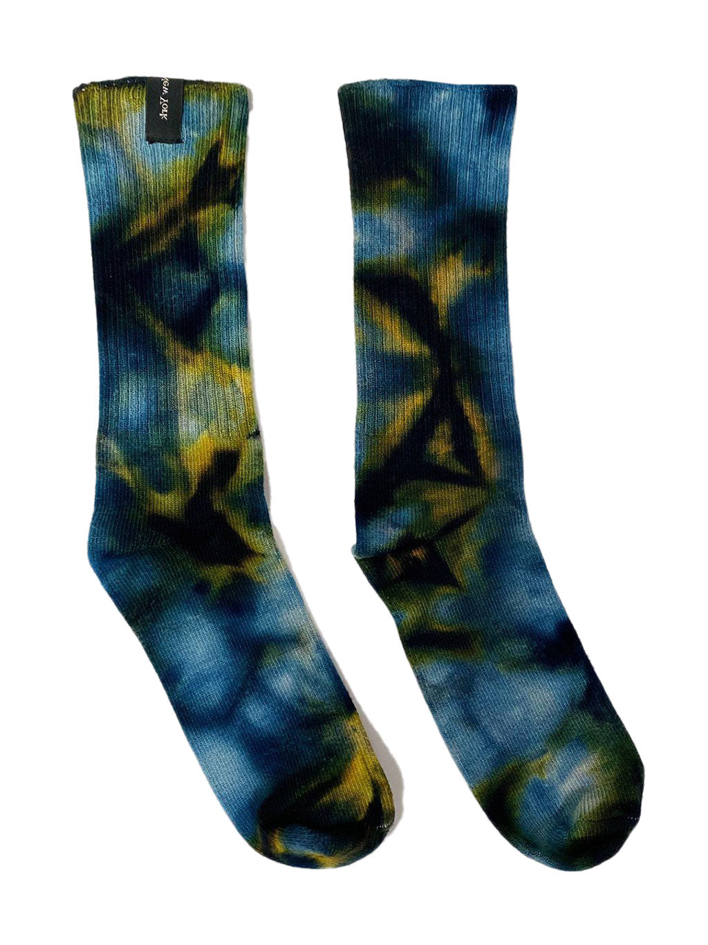 Blue Acid Tie Socks