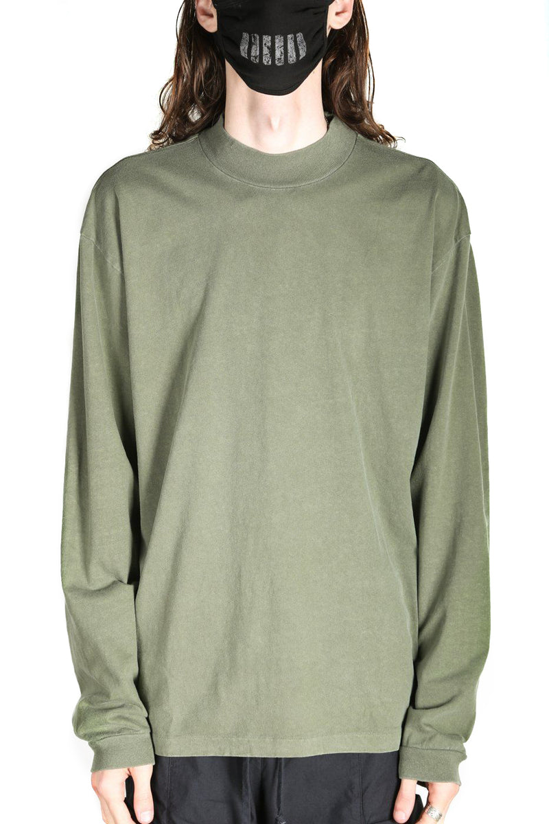Moss Color 900 LS Mock T-Shirt