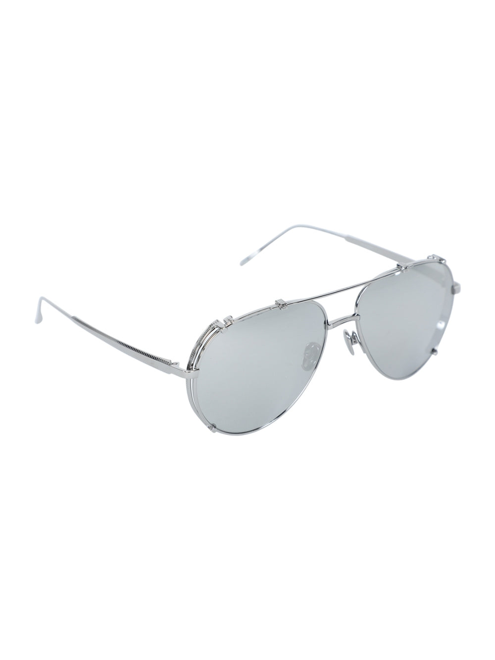 White Newman Aviator Sunglasses