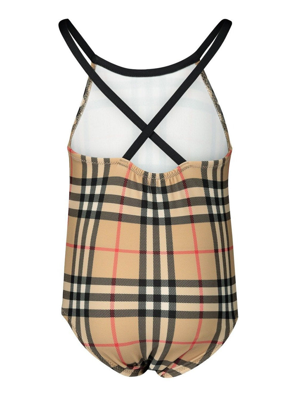 Archive Beige Check Print Swimsuit