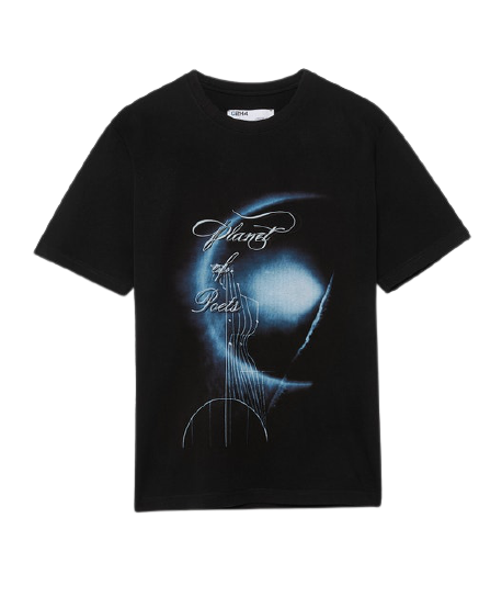 Faded Black Planet of Poets Tee