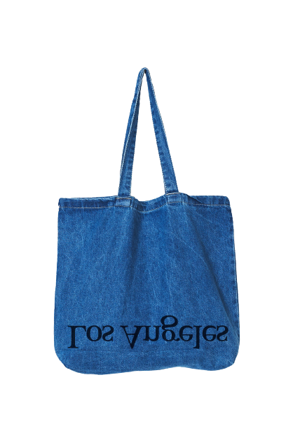 Blue Denim  LA Logo Tote