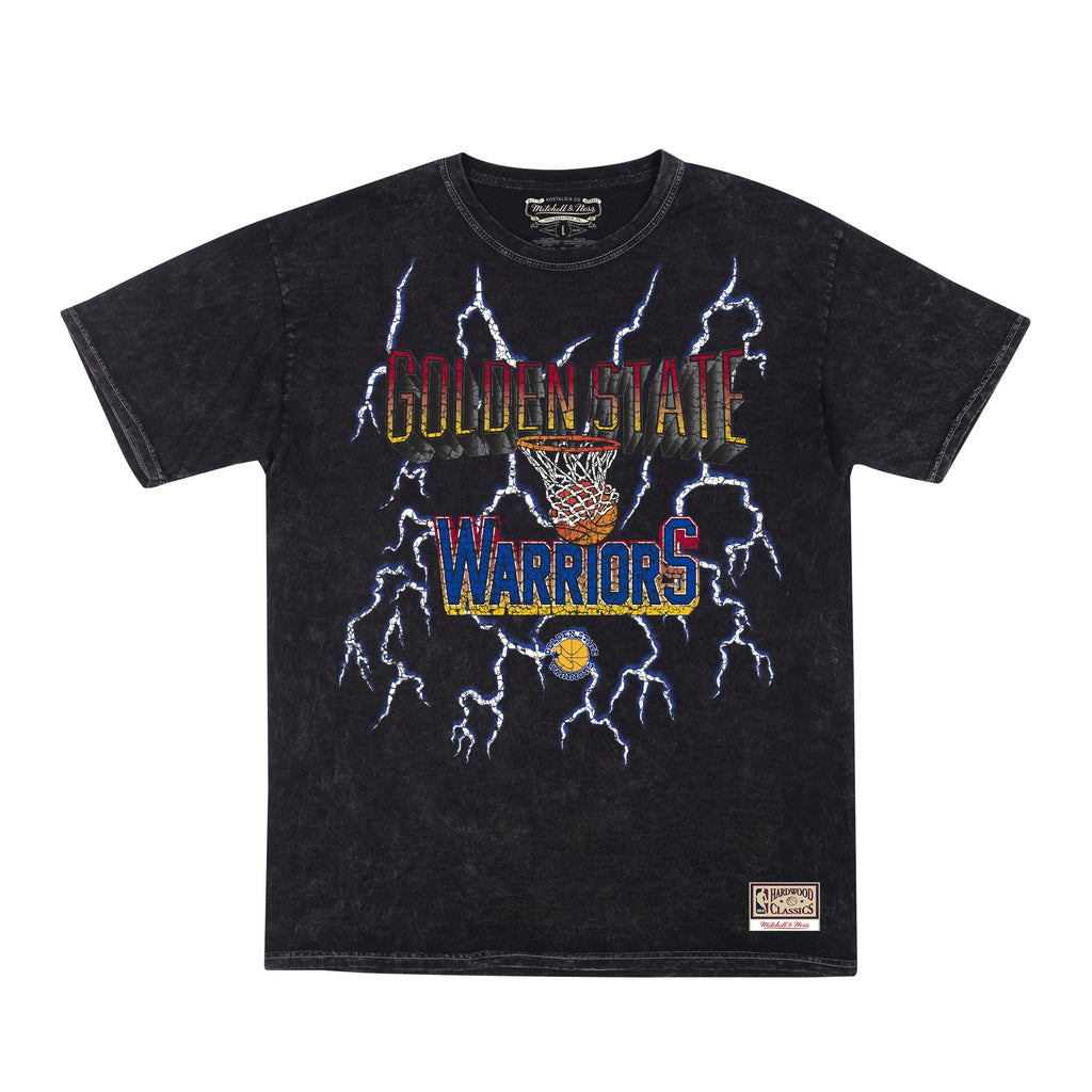 Black Warriors NBA Vintage Lightning Tee