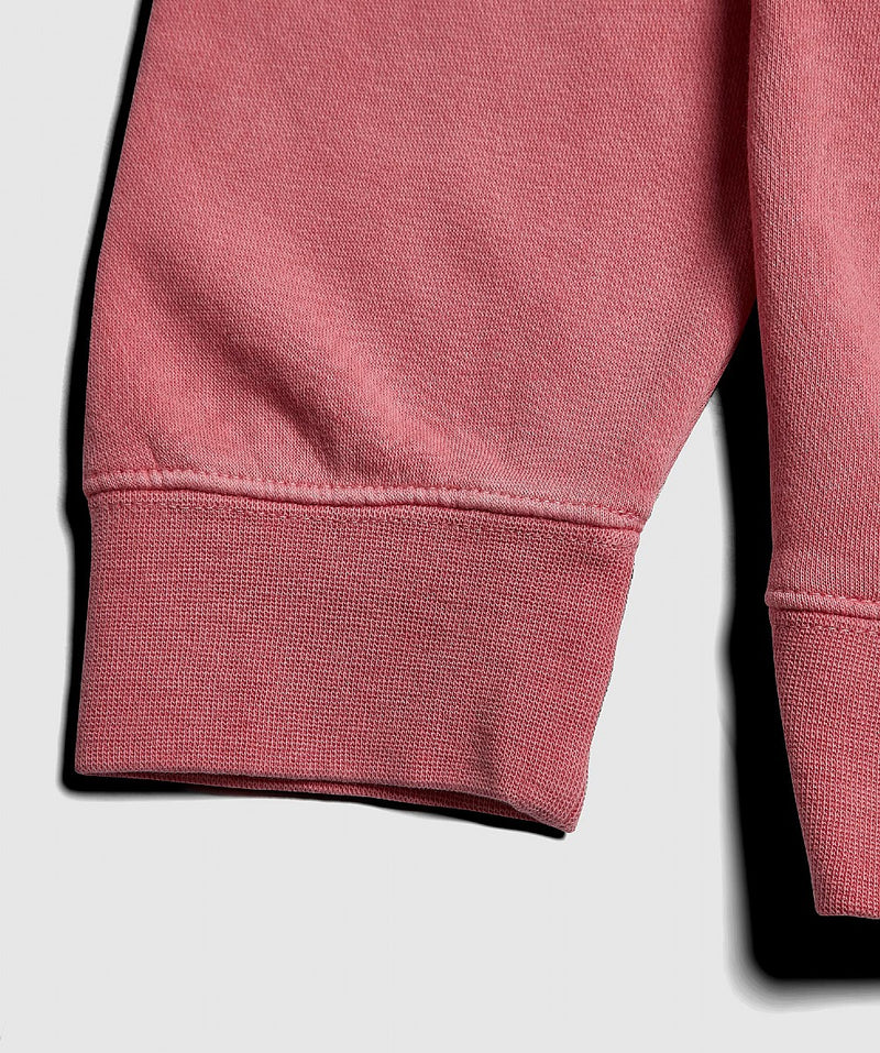 White and Pink Wavelength Crew Sweater