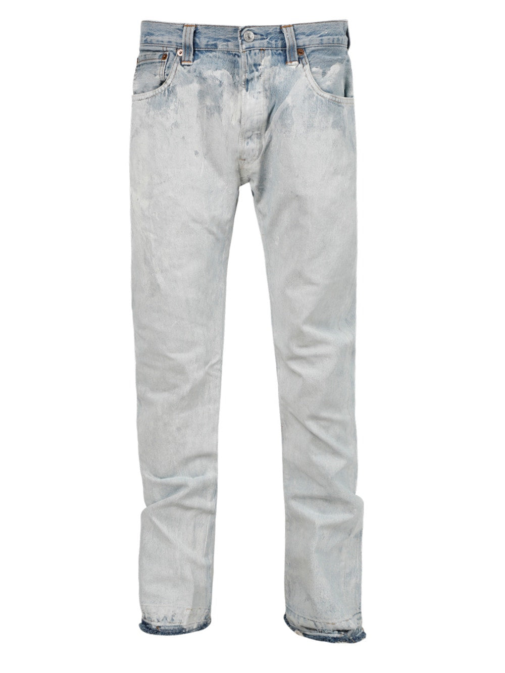 White Bleached Artifact Fit Jeans