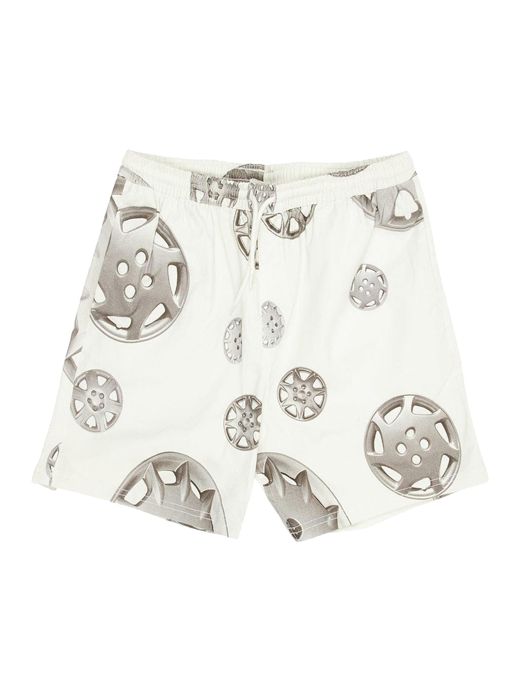 White Roadside Twill Shorts
