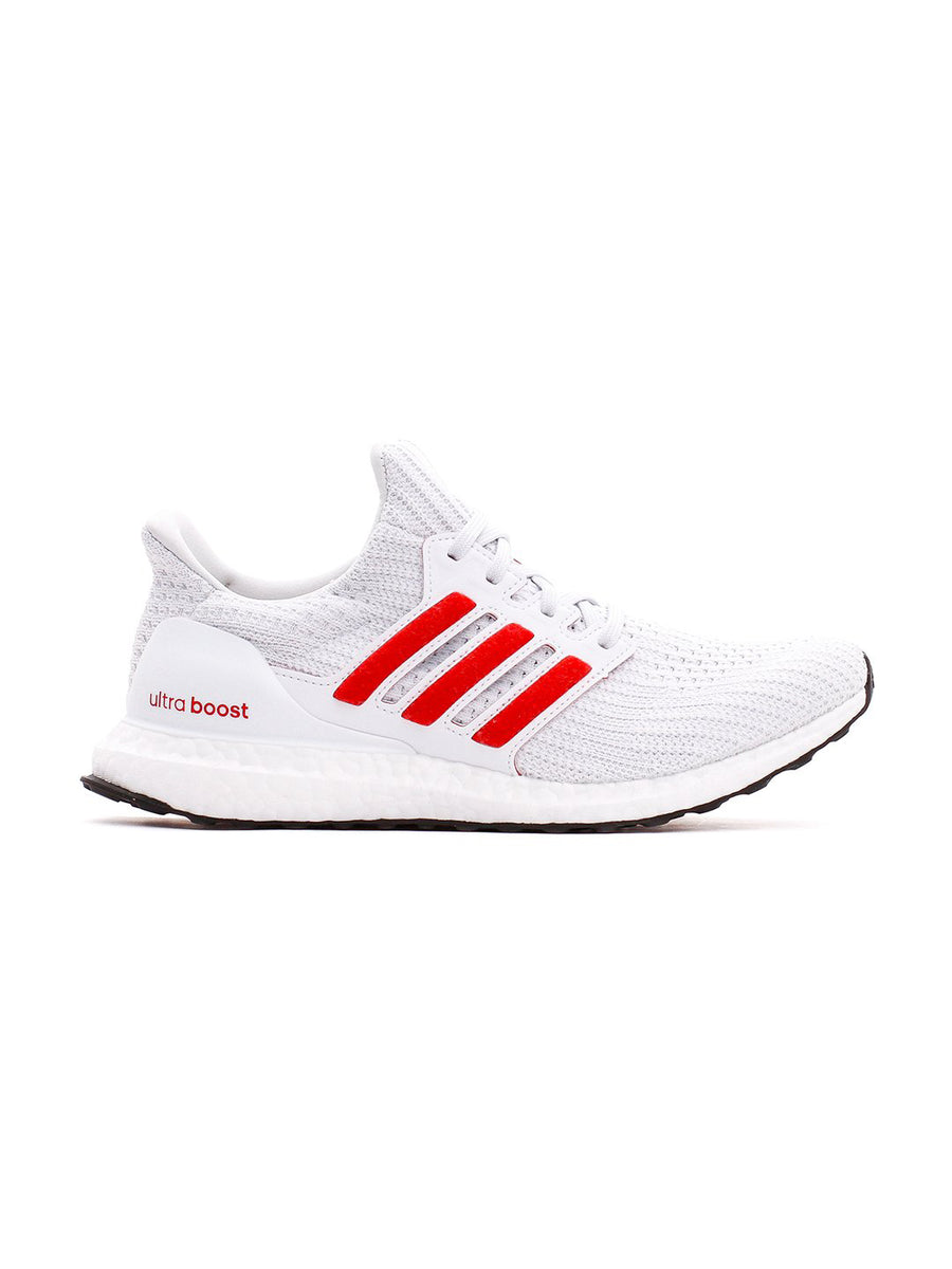 Adidas White Scarlet Ultraboost 4.0 DNA Sneakers | Complex SHOP