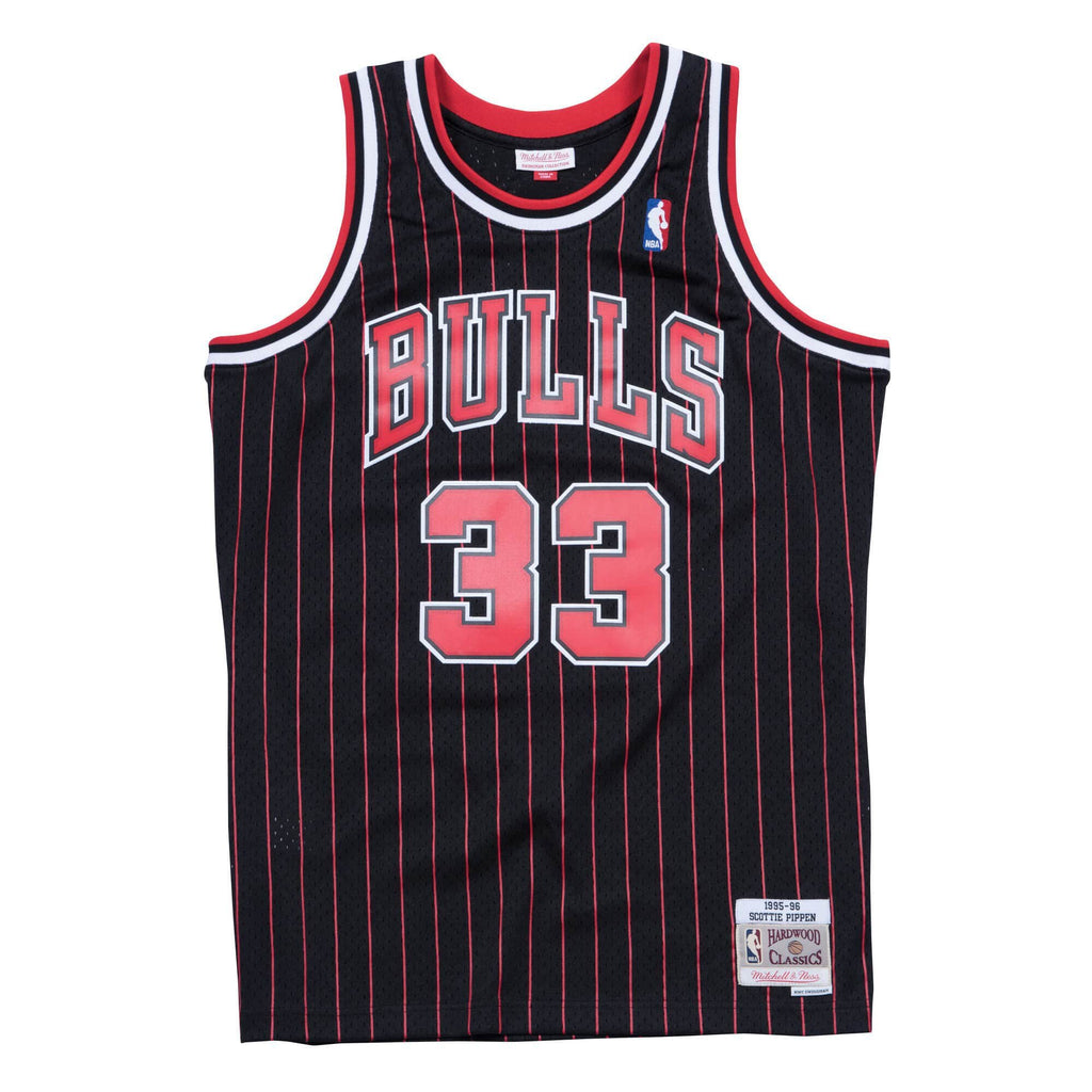 Black NBA Chicago Bulls Scottie Pippen Swingman Jersey