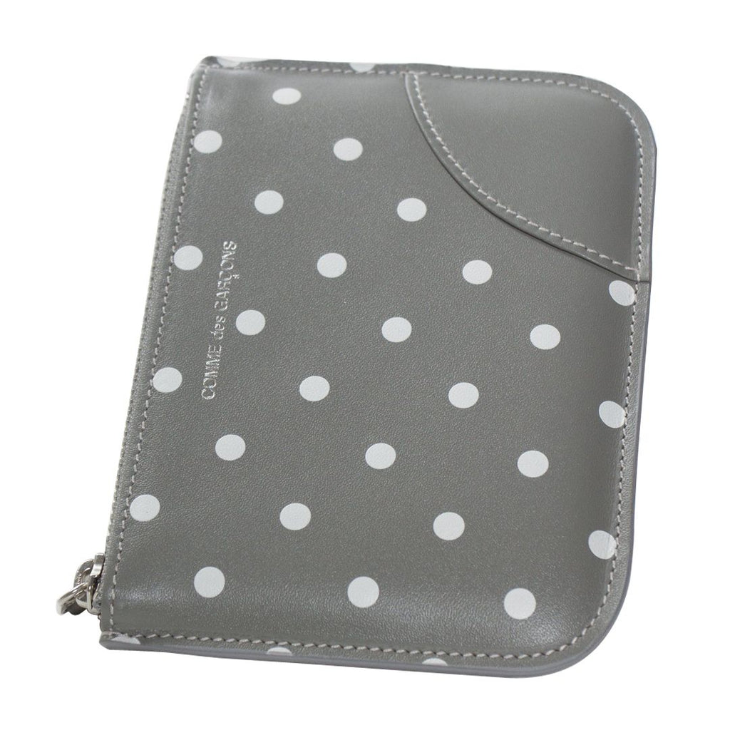 Grey Polka Dot Pouch