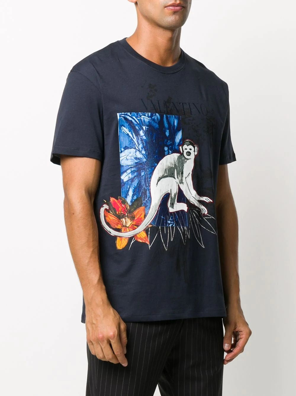 Blue Jungle Mural T-Shirt