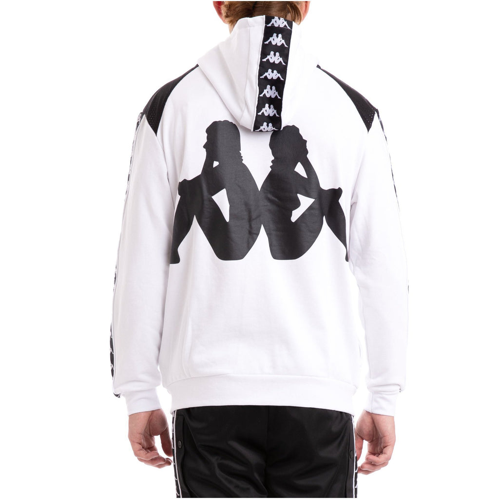 White & Black Authentic Bray Fleece Hoodie