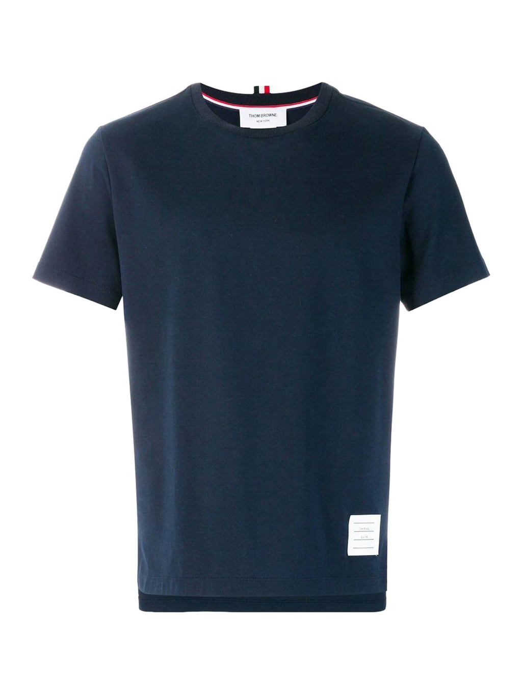 Navy Side Slit Relaxed T-Shirt