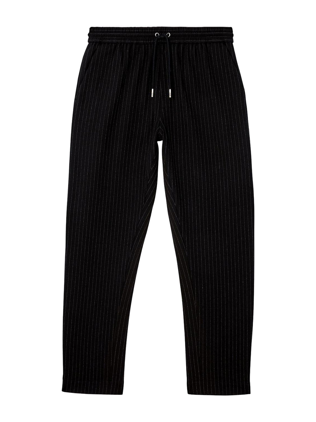 Black and White Pinstripe Track Pants
