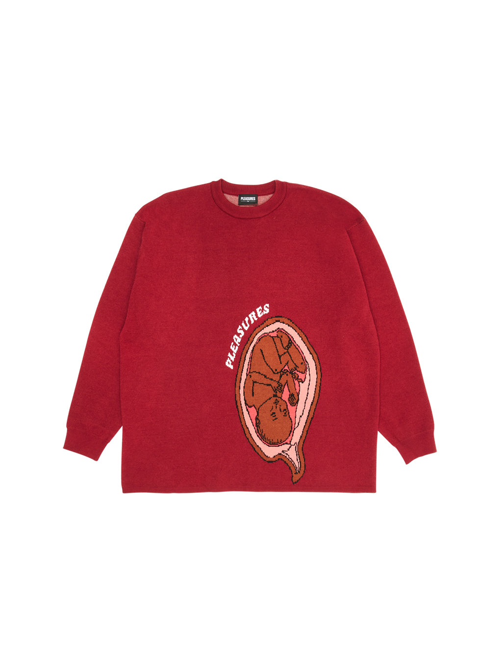 Red Utero Jaquard Sweater