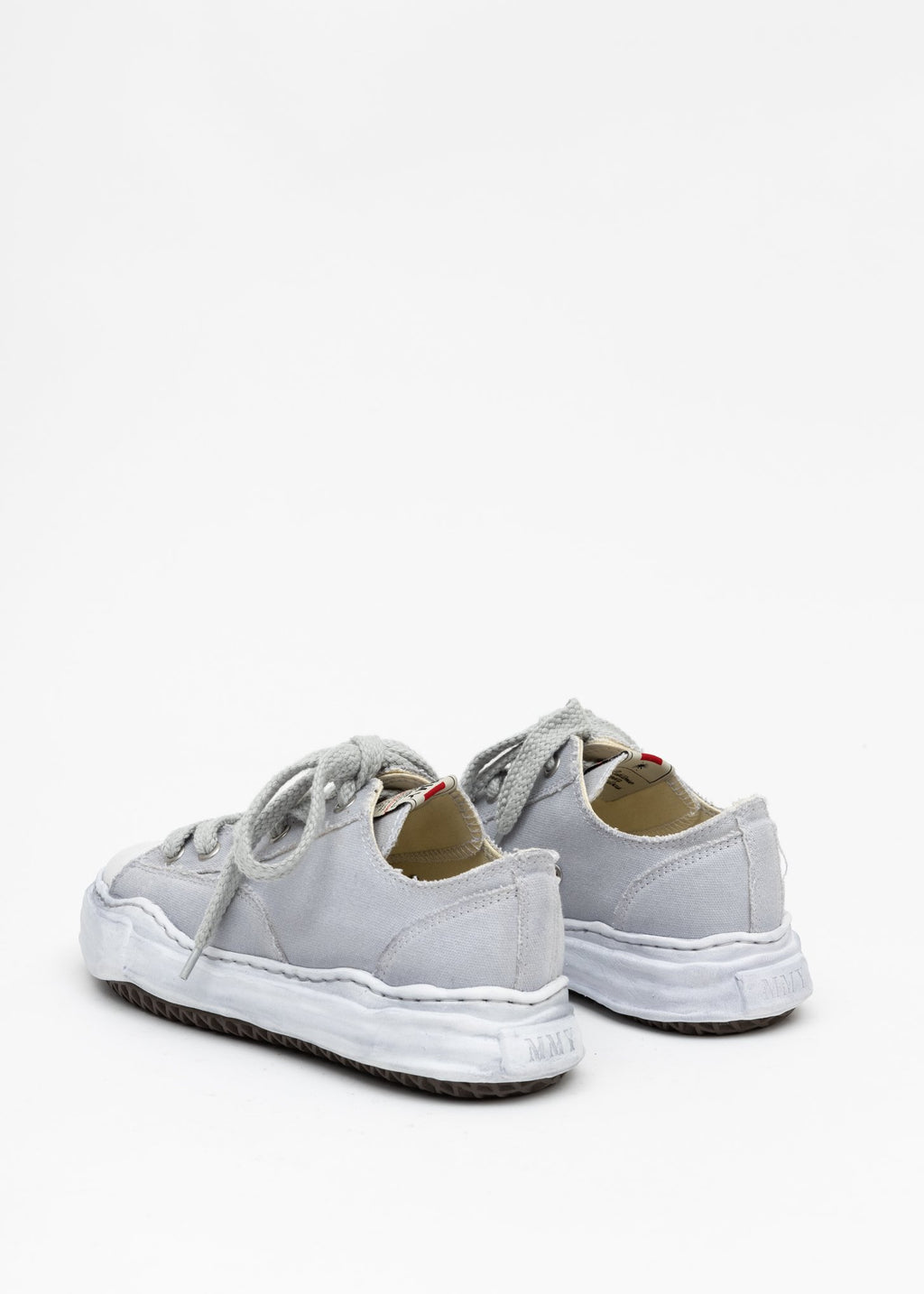 Grey Overdyed Canvas Sneakers