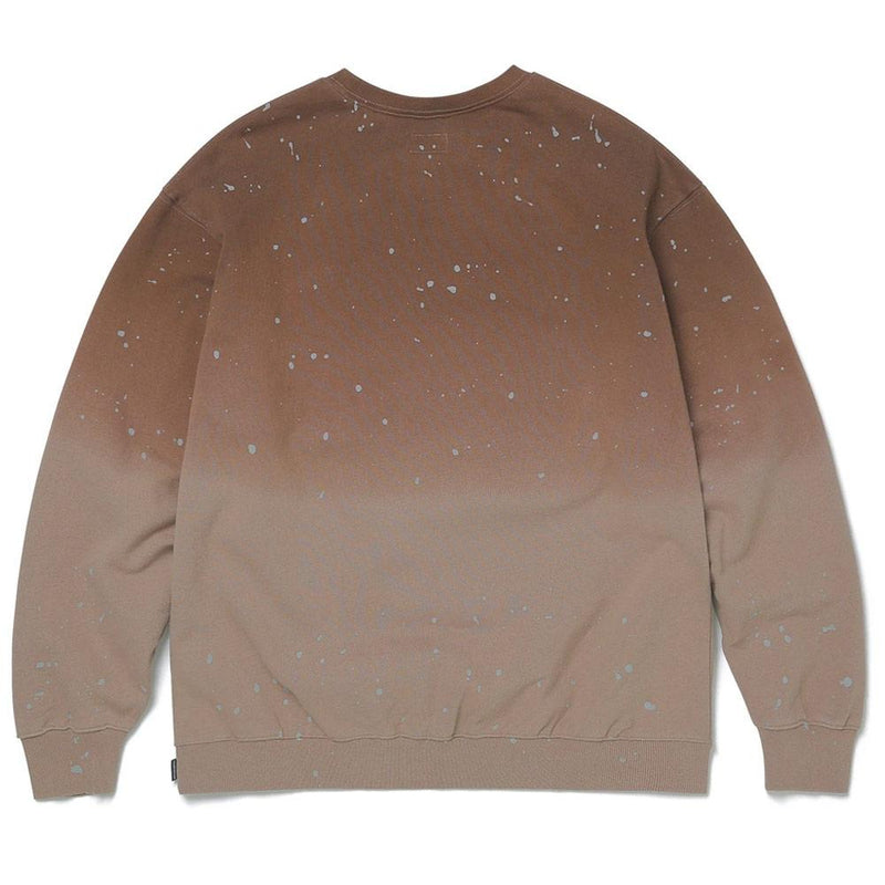 Brown Dip Dyed Crewneck Sweatshirt