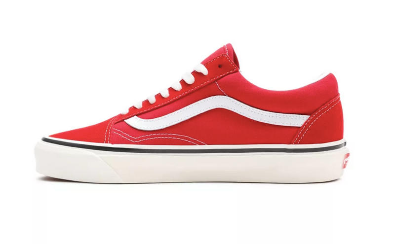 Red & White Anaheim Factory Old Skool 36 DX Sneakers