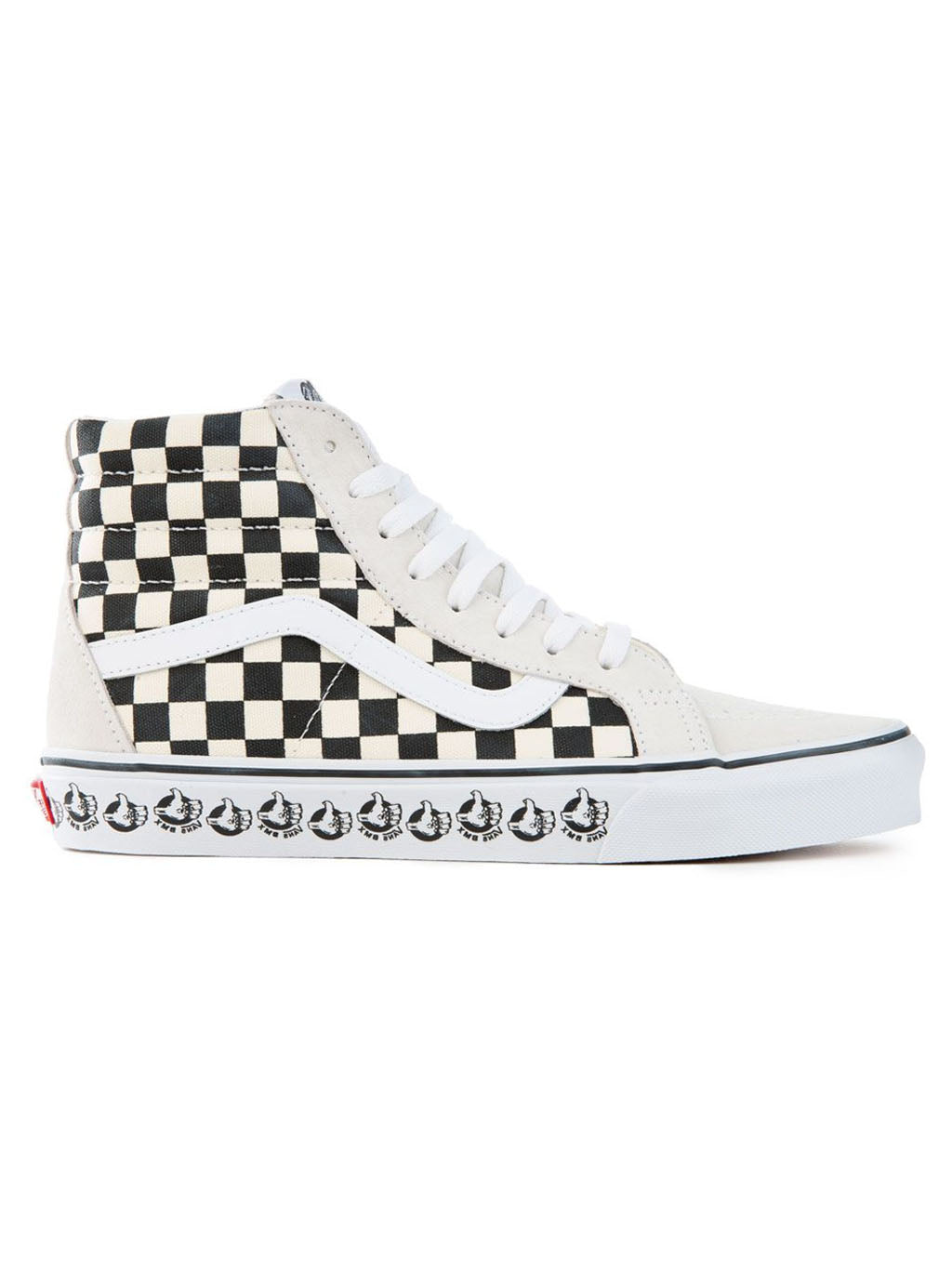 White & Black SK8-Hi Reissue Bmx Shoes