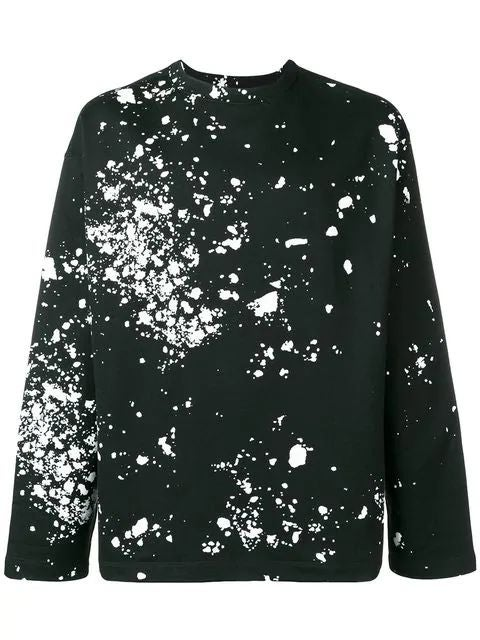 Black Splatter Print Sweatshirt