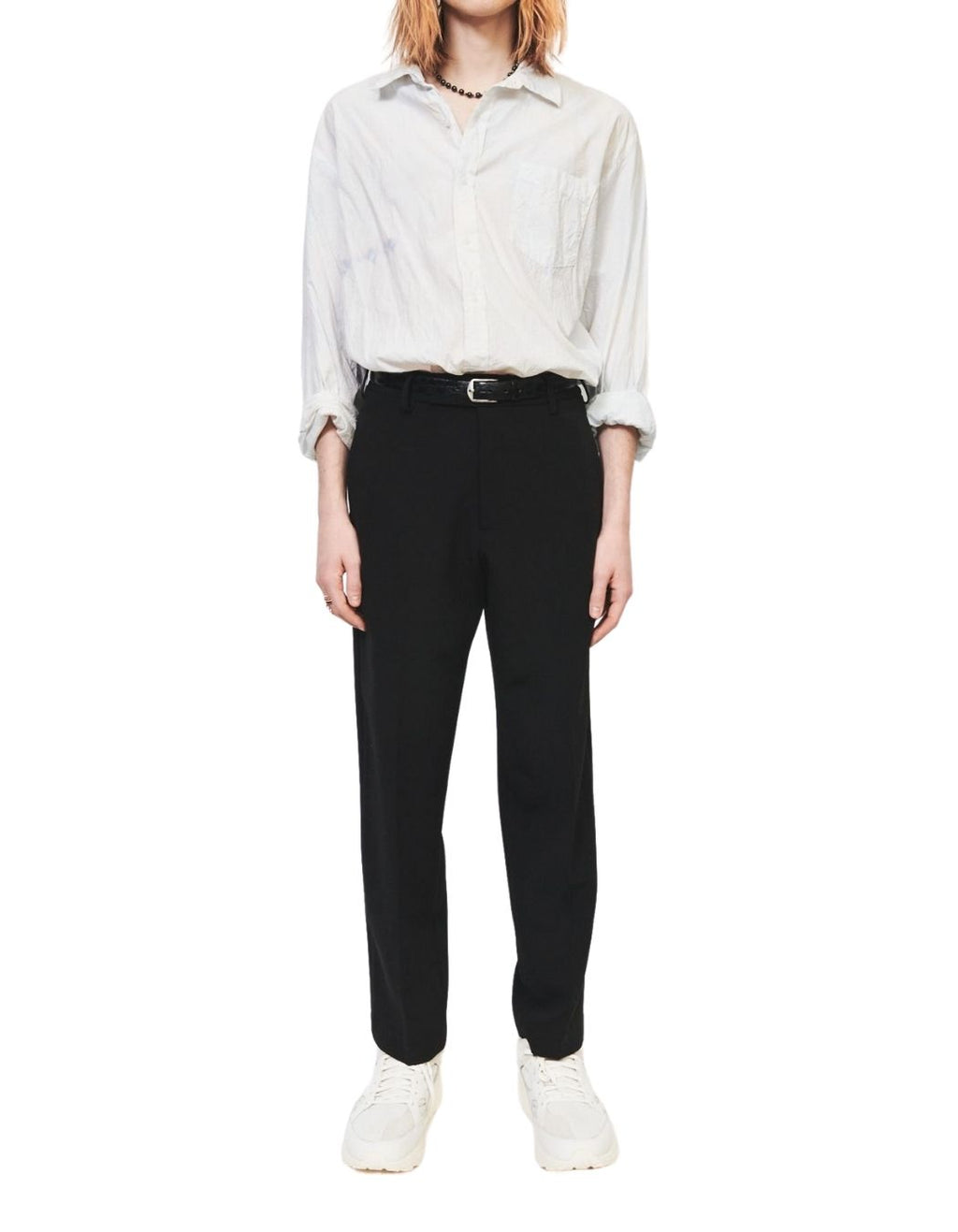 Black Suiting Flat Front Pant