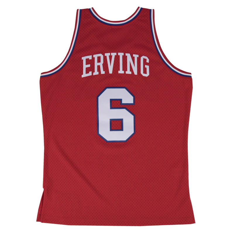 Red NBA Philadelphia 76ers Swingman Julius Erving Jersey