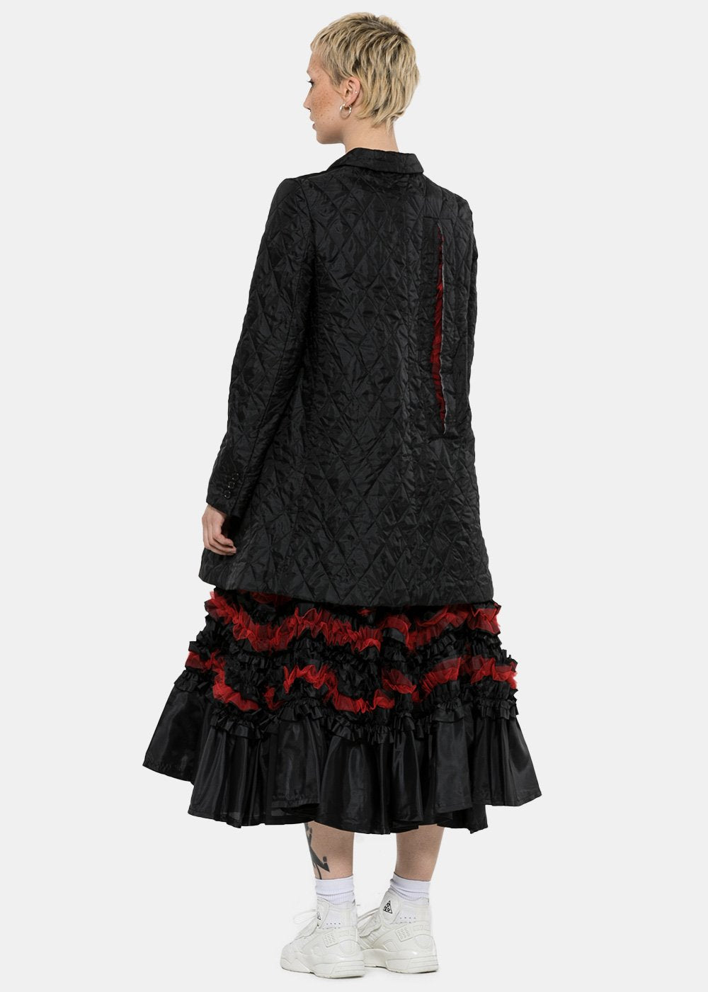 Black Tulle Coat Dress