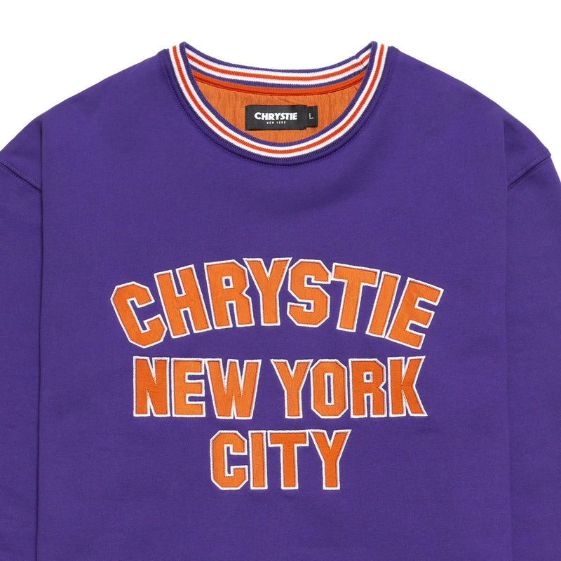 Purple Varsity Logo Crewneck Sweater