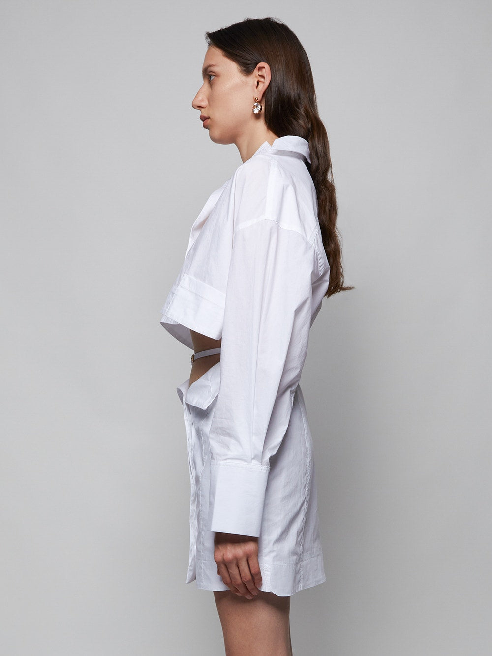 White La Robe Terraria Shirt Dress