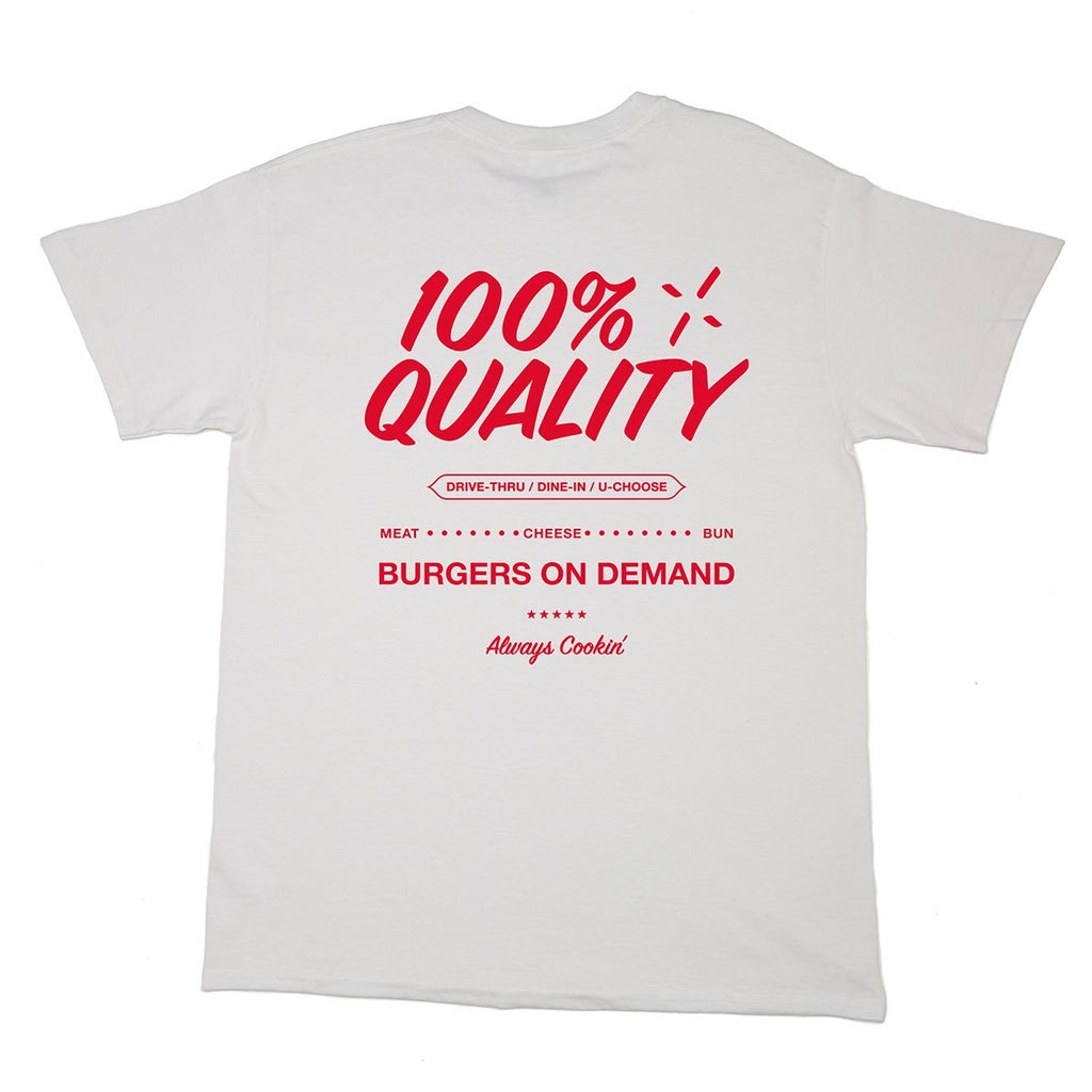 The Burger Show 100% Quality Tee - White