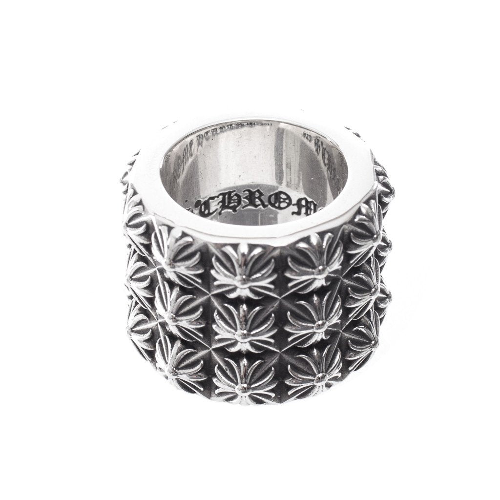Silver Pete Punk Triple Stack Ring