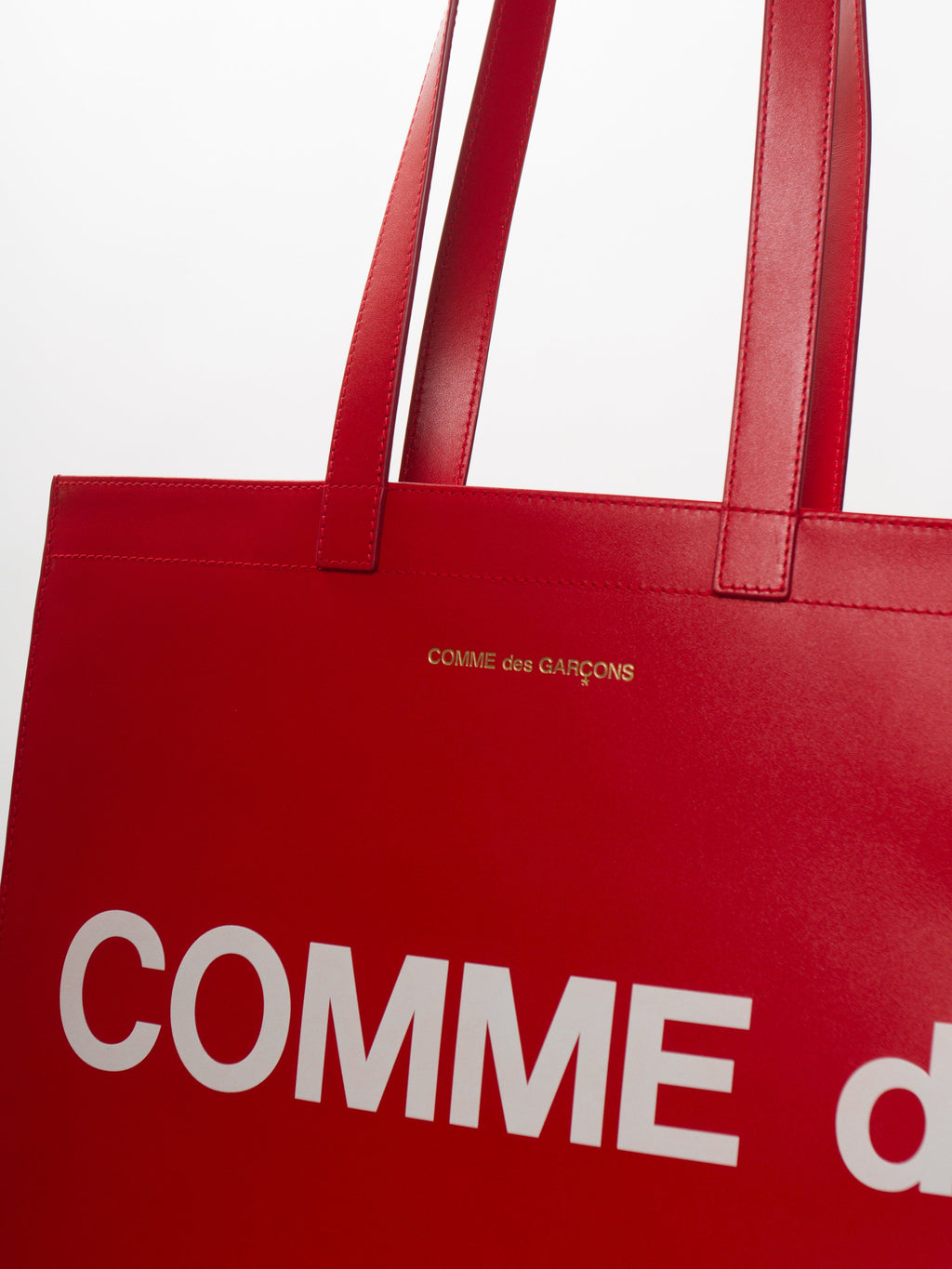 Red Huge Logo Tote Bag