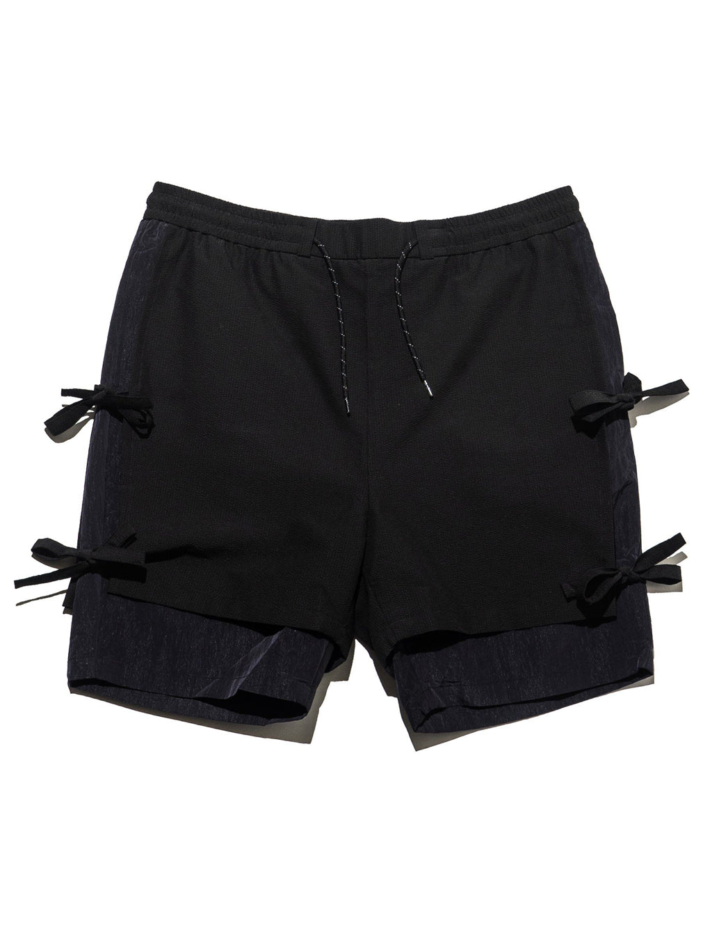 Black Two Layers Shorts