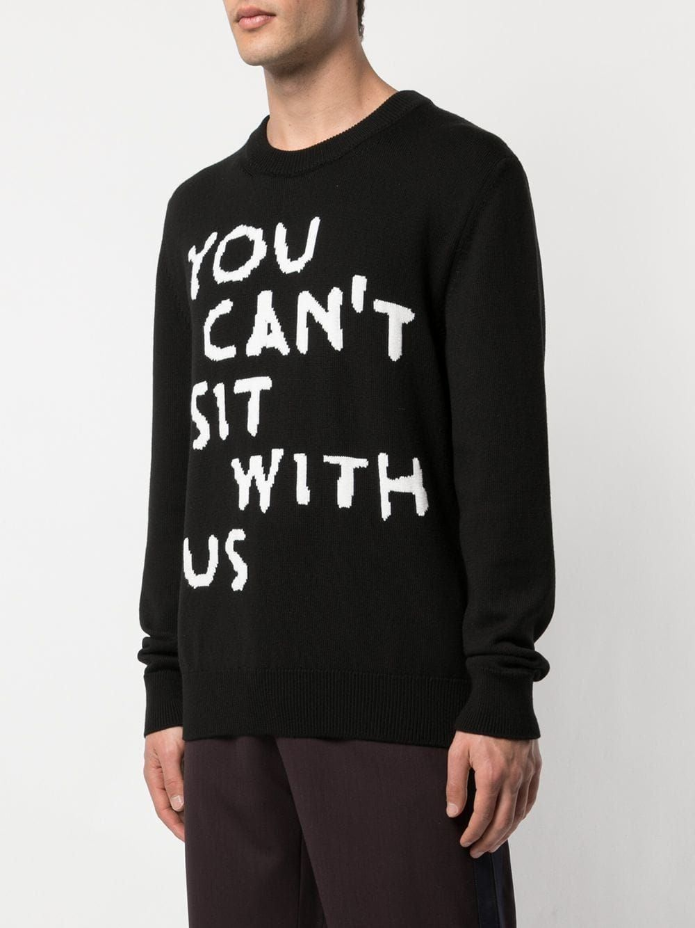 Black You Cant Sit With Us Pullover Sweater