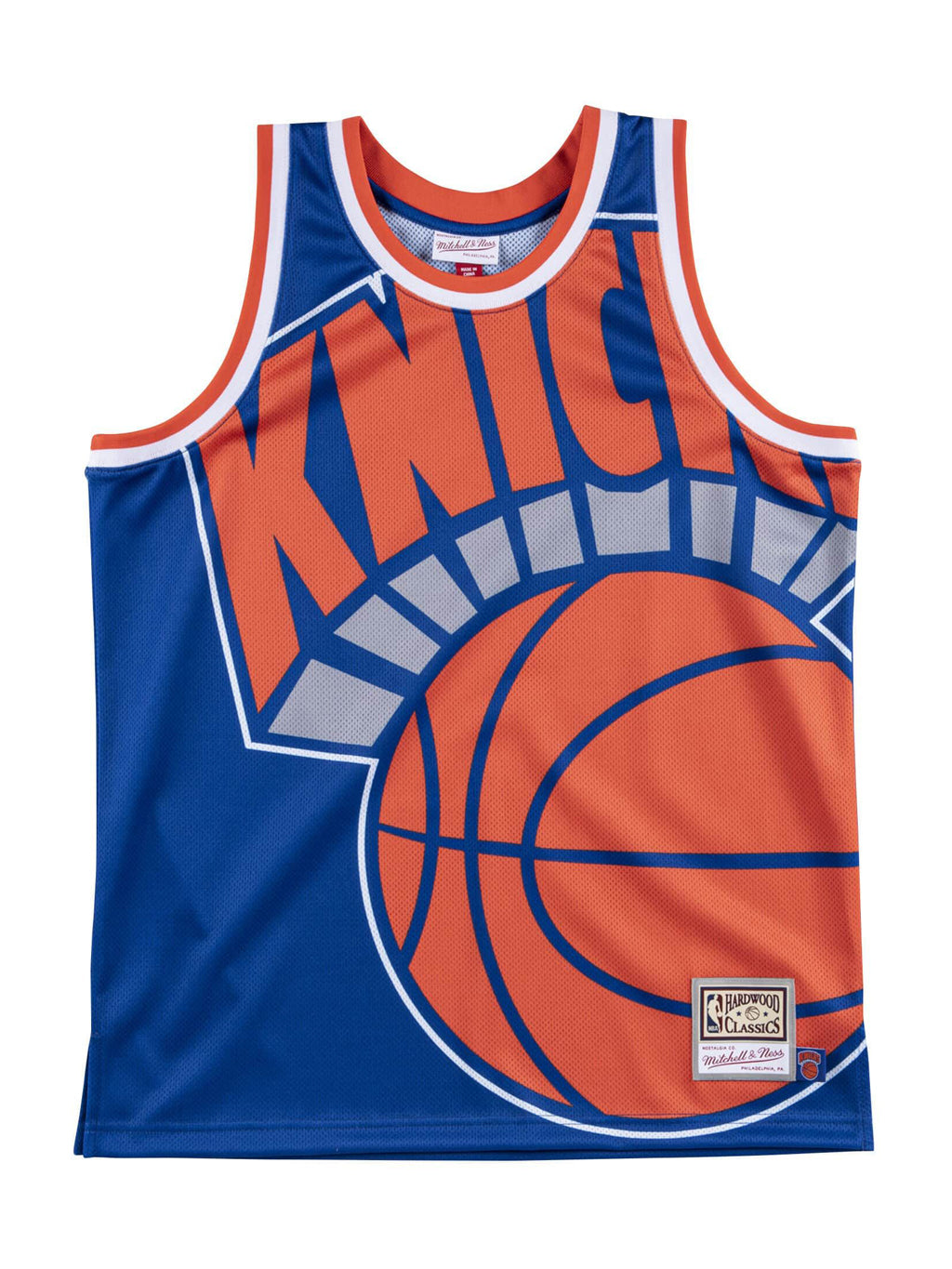 Blue NBA New York Knicks Big Face Jersey