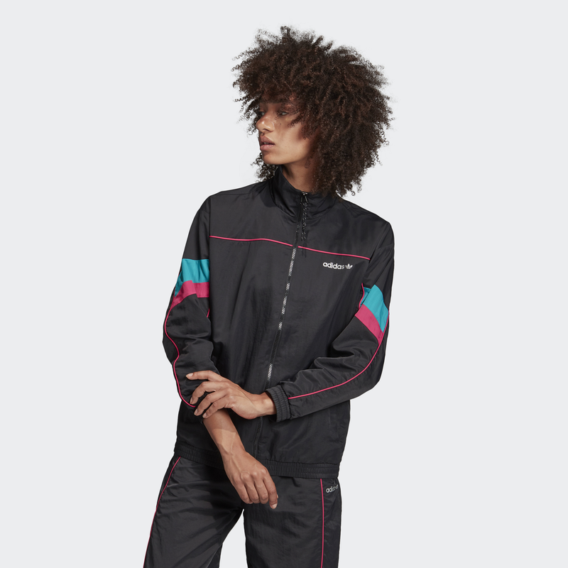 Black Tech Track Top