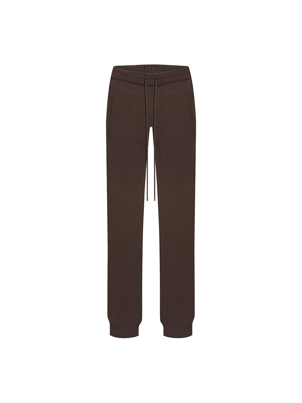 Brown Laze Cotton-Cashmere Jogger Pants